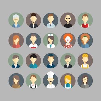 Люди аватары коллекции