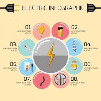 Электрический инфографики шаблон