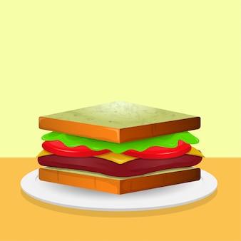 Сэндвич иллюстрация