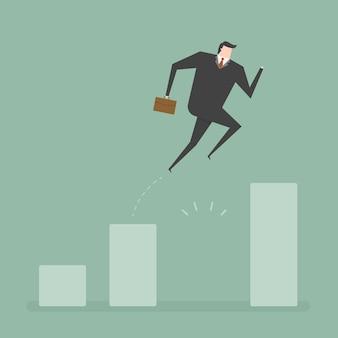 ビジネスマンのジャンプのデザイン