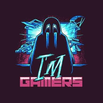 Я геймер иллюстрация