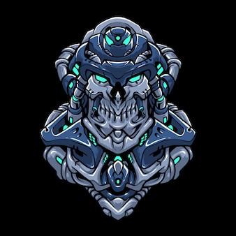 サイバーロボットヘッド図