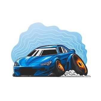 スタンス車の手描き