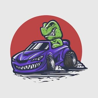 トレックス車の手描き