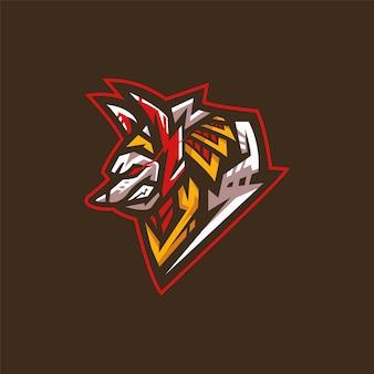 Логотип команды киберспорта с анубисом