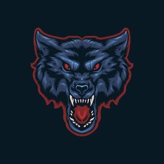 オオカミの頭の図