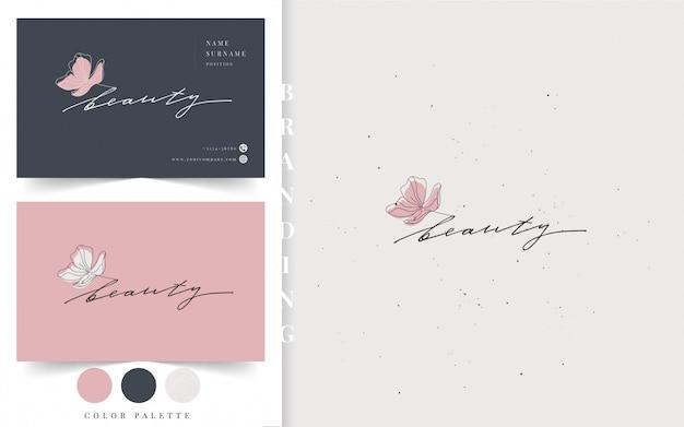 Шаблон логотипа красоты.