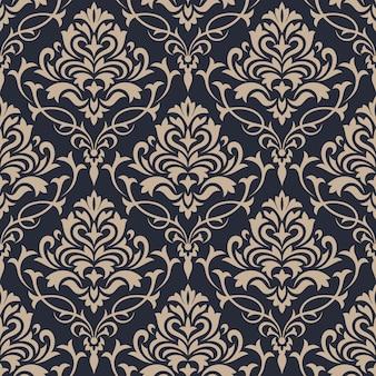 Дамаск бесшовный фон фон. классические роскошные обои украшения.