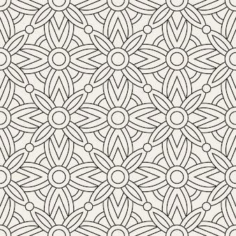 Вектор бесшовные модели абстрактный геометрический узор с линиями. повторяя геометрические плитки.