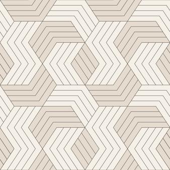ベクターのシームレスなパターン。対称の幾何学的な線とのシームレスなパターン。幾何学的なタイルを繰り返します。