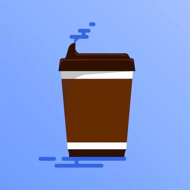 コーヒー用の隔離されたプラスチック製のコップ