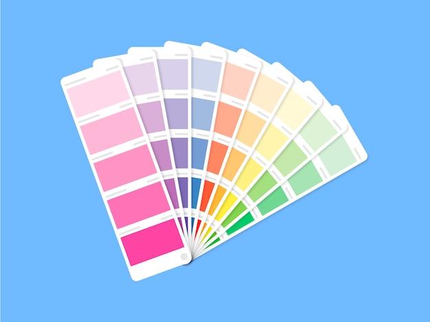 Руководство по цветовой палитре на сером фоне
