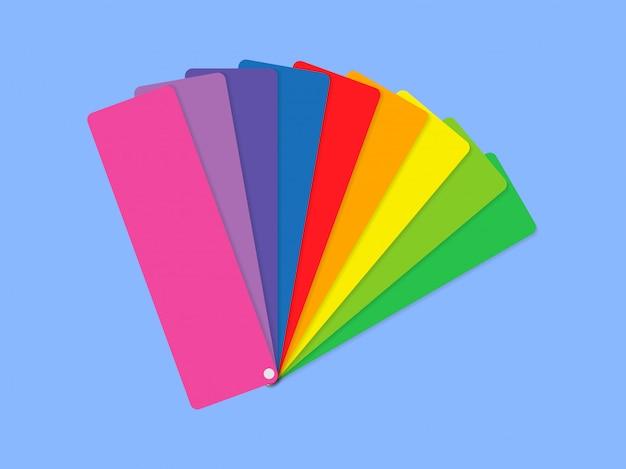 Цветовая палитра на синем