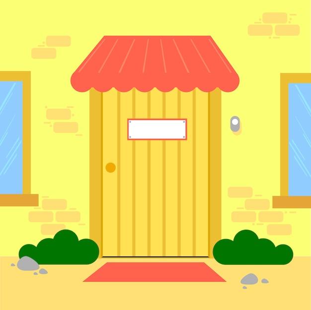 公衆電話と消火器のベクトル。テキスト用の空き容量壁紙。バックグラウンド。ドアのベクトルを終了します。