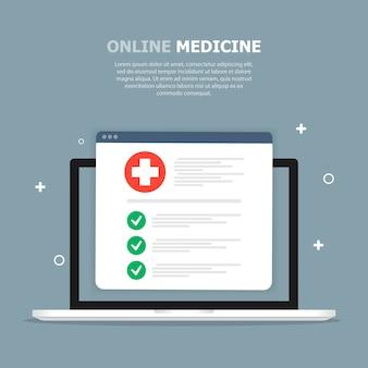Табличка с медицинской карточкой с красными отметками изображена на синем шаблоне