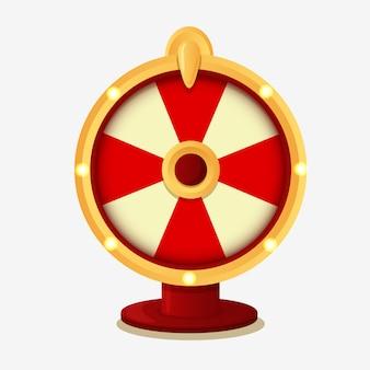 Колесо фортуны с выигрышной красочной иллюстрацией