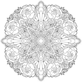 マンダラ。民族の装飾的な要素。イスラム、アラビア、インド、オスマン帝国のモチーフ。