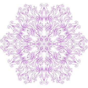 ヘナ、一時的な刺青、タトゥー、装飾のための円形の曼荼羅。エスニックオリエンタルスタイルの装飾的な飾り