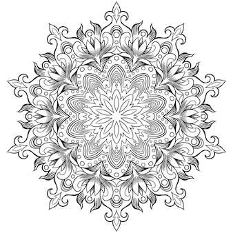 ヘナのための曼荼羅の形の円形パターン