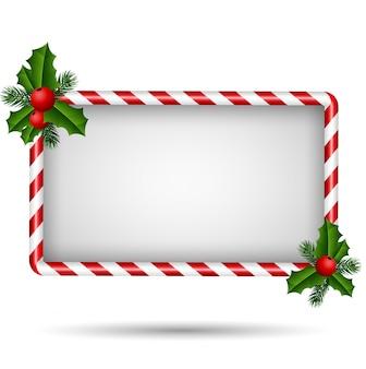 クリスマスカード、キャンディーフレーム