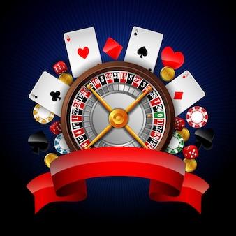 Фон азартных игр с элементом казино
