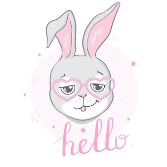 Кролик милый принт.