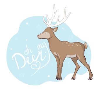 かわいい鹿ベクトル