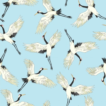 クレーン鳥のパターン