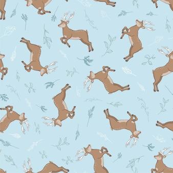 シームレスな鹿のパターン