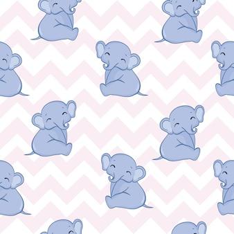 Бесшовный фон со слонами