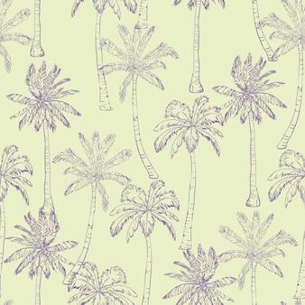シームレスな熱帯ヤシの木パターン。