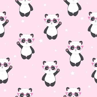 Мультфильм бесшовные панда