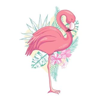 Птица фламинго