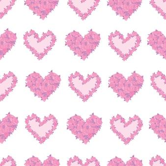 かわいいバラのシームレスなパターン背景