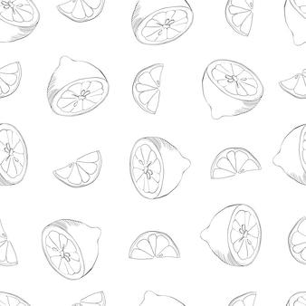 レモンとのシームレスなパターン