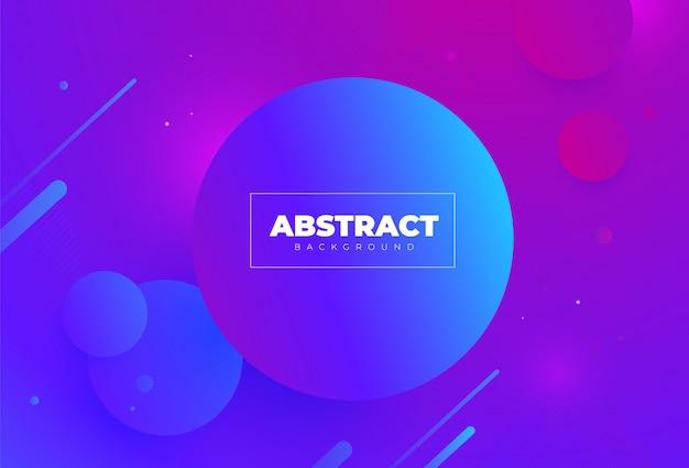 Креативные геометрические обои. круг фиолетовый и синий. модные композиции градиента формы. ,