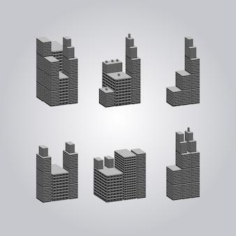 幾何学的建物コレクション