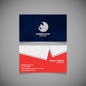 Синяя и красная бизнес-брошюра