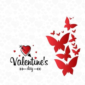 光のパターンの背景と心のバレンタインカード
