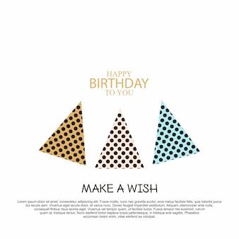 Открытка на день рождения с элегантным векторным дизайном