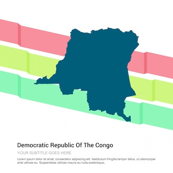 コンゴの地図