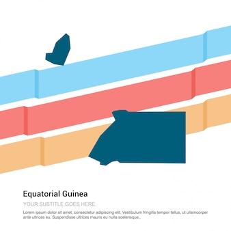 白背景ベクトルを用いた赤道ギニア地図デザイン