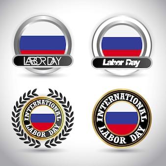 スロベニアの旗労働日のデザインベクトル