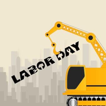 タイポグラフィーとユニークなデザインによる労働日のデザイン