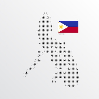 フィリピン地図デザイン