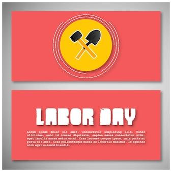 Карточка рабочего дня с типографикой и розовым тематическим вектором