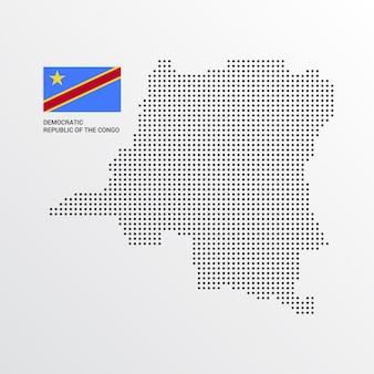 コンゴ民主共和国の地図