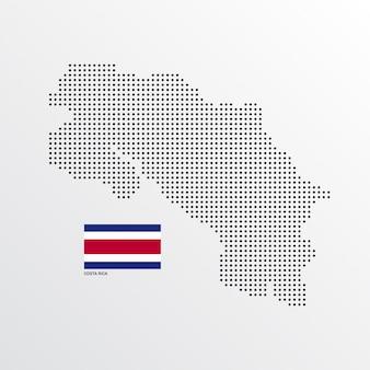 コスタリカ地図デザイン