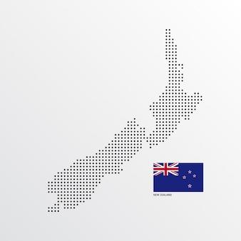 ニュージーランド地図デザイン