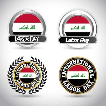 イラクの旗労働日のデザインベクトル